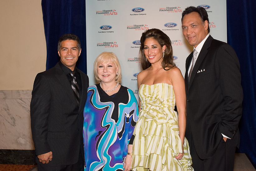 Esai Morales, Cristina Saralegui, Giselle Itié and Jimmy Smits at the National Hispanic Foundation for the Arts' Noche de Gala