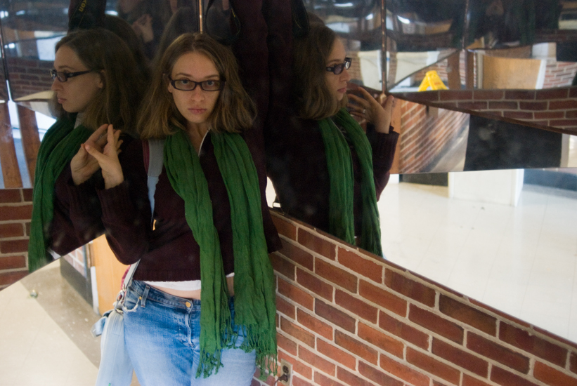 self-portrait in forever mirror thing, UMD
