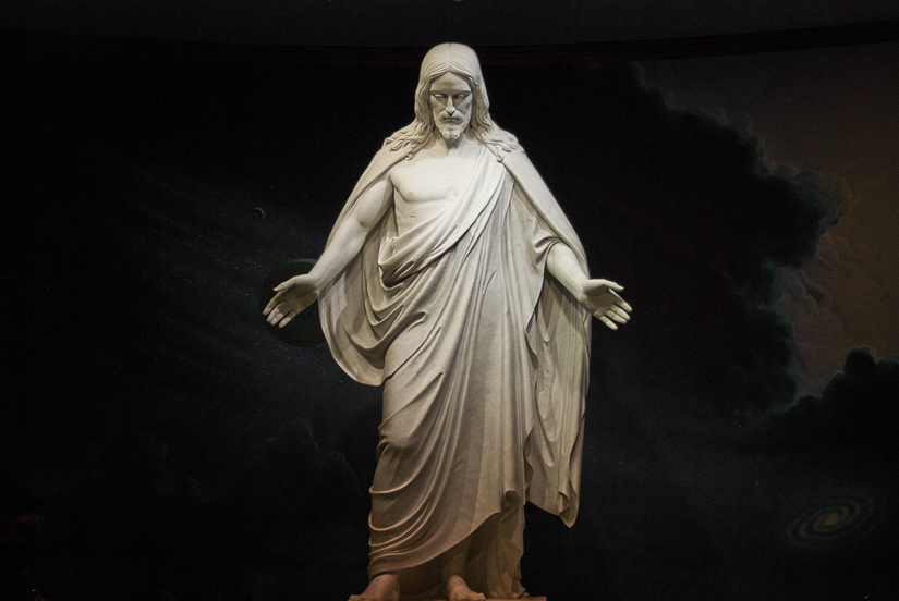 jesus at the washington mormon temple