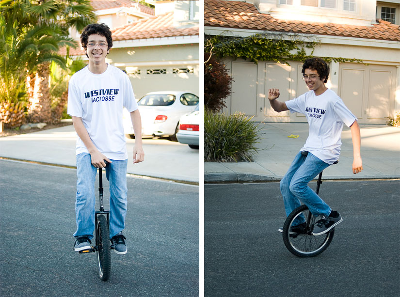 leonard on the unicycle