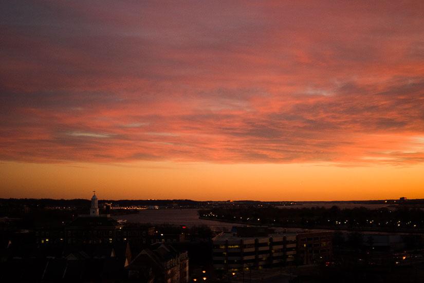 sunset over washington dc