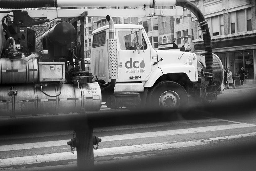 DC Water truck - black and white