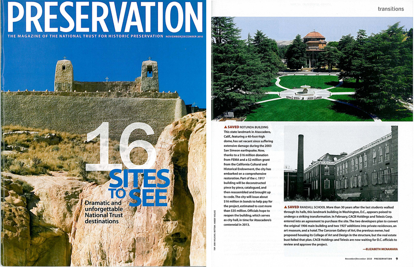 My image in Preservation magazine