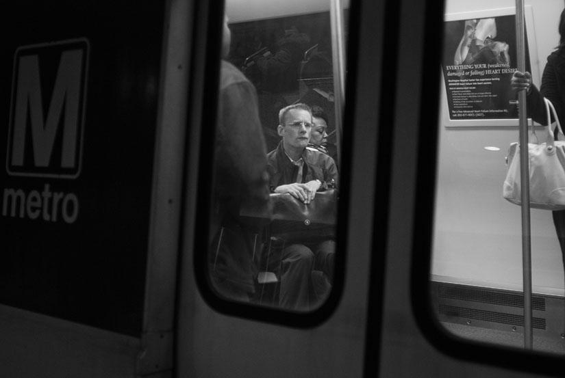 man on the washington, dc metro