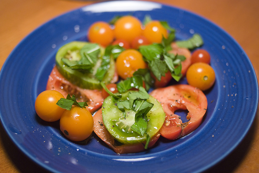 delicious tomato and basil salad
