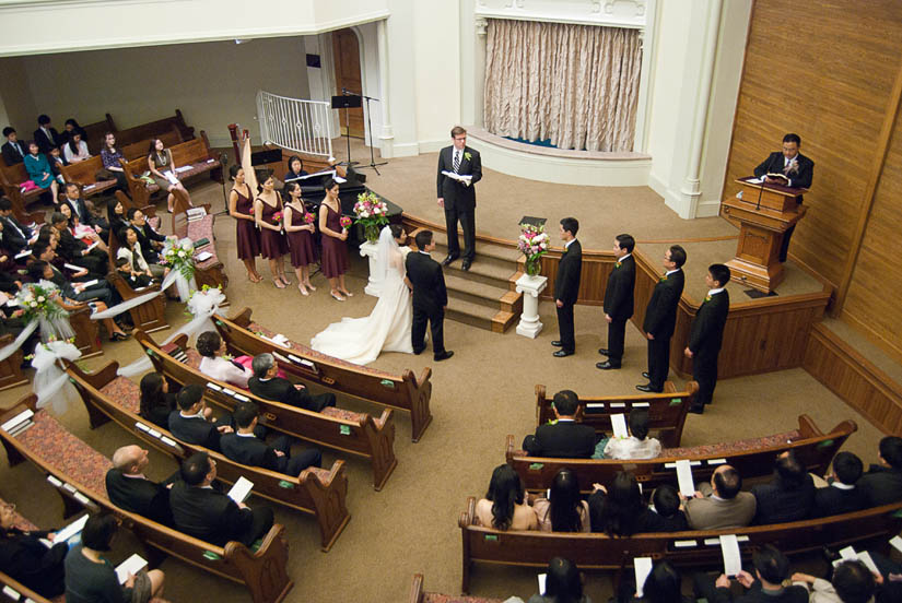 wedding ceremony at capitol Hill baptist church