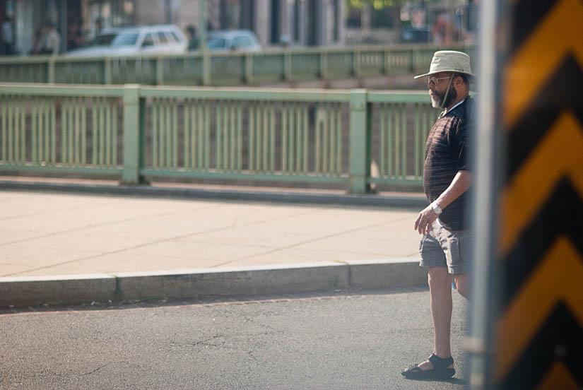 guy walking in dupont circle