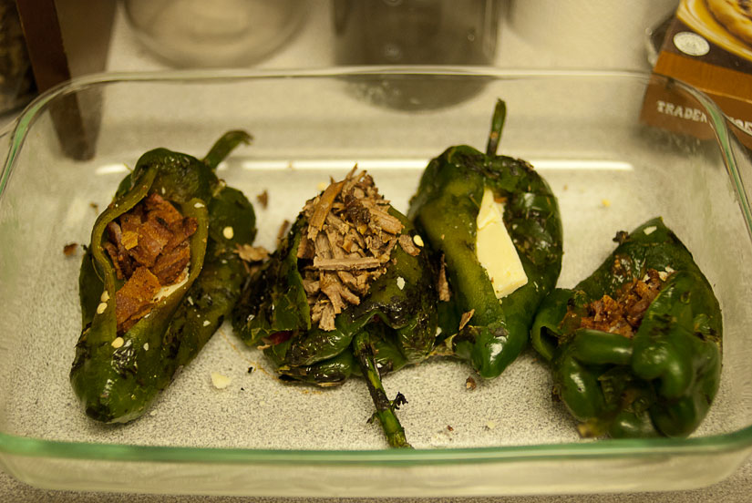 chile rellenos - stuffed peppers uncooked
