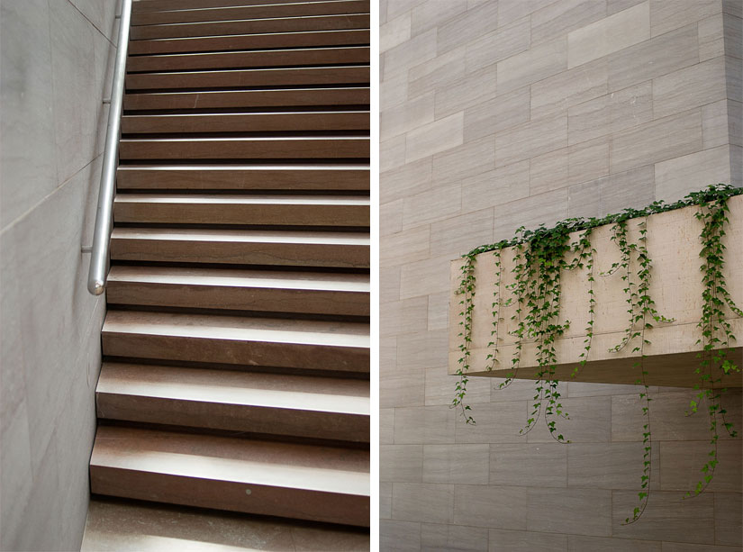 stairs and planter - national gallery of art - washington dc