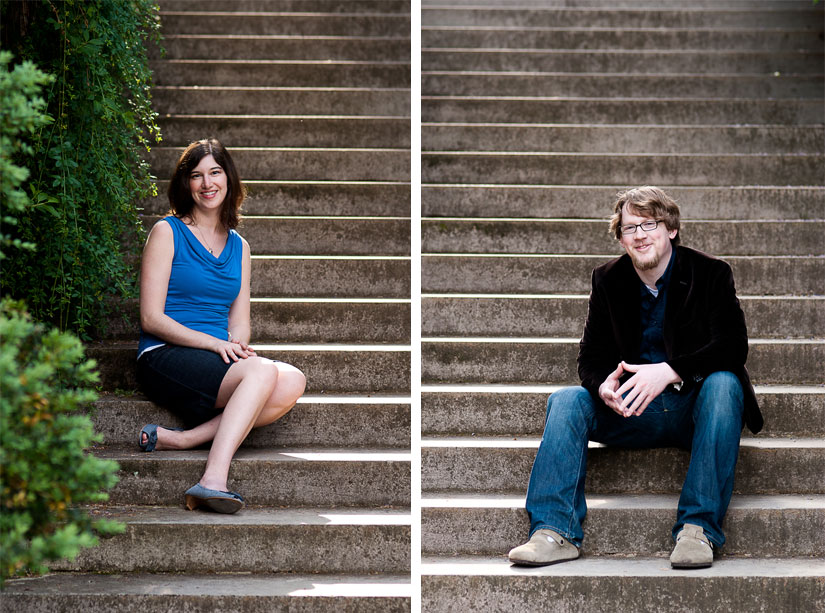 portraits on the stairs at dumbarton oaks
