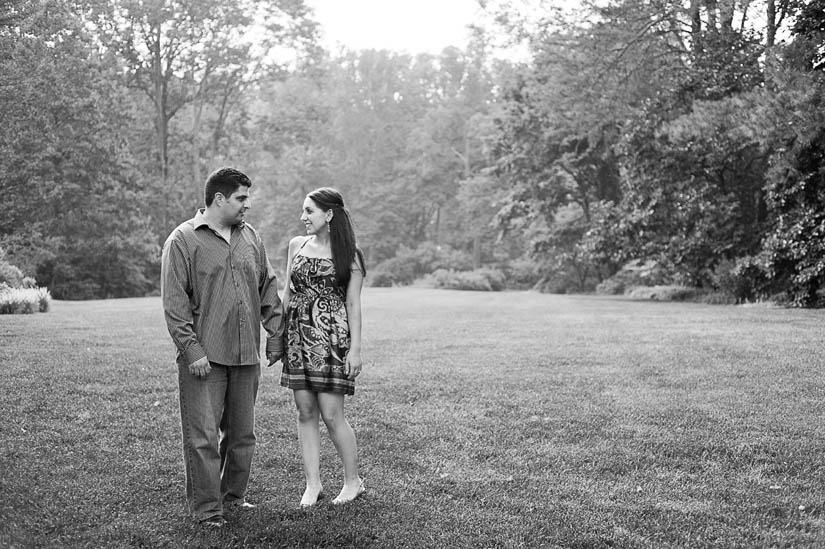 engaged couple at brookside gardens