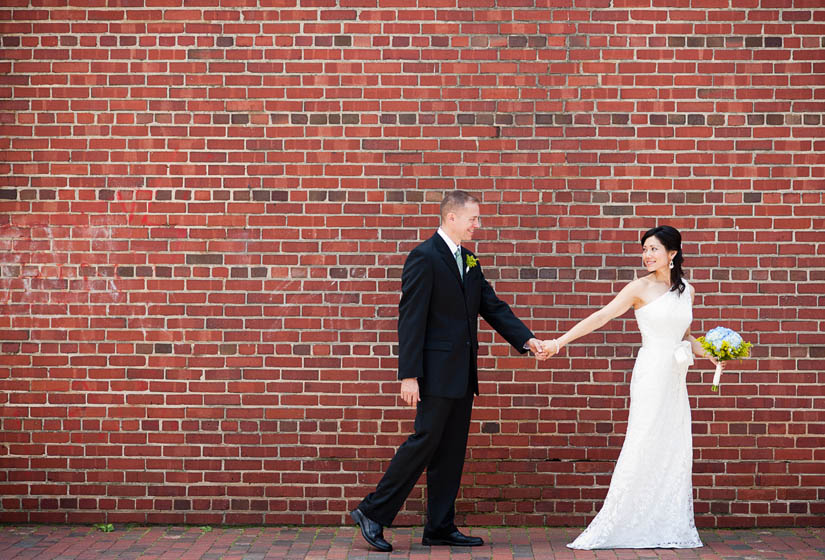 red brick wedding photography