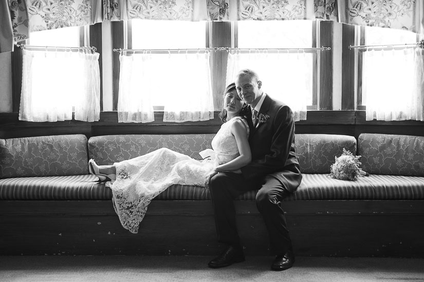 wedding portrait at la ferme restaurant, chevy chase