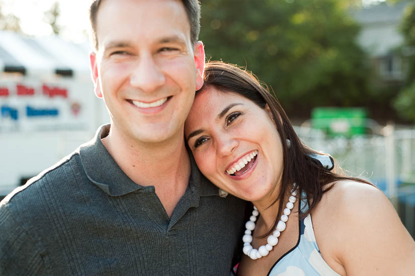 engaged couple at the arlington county fair