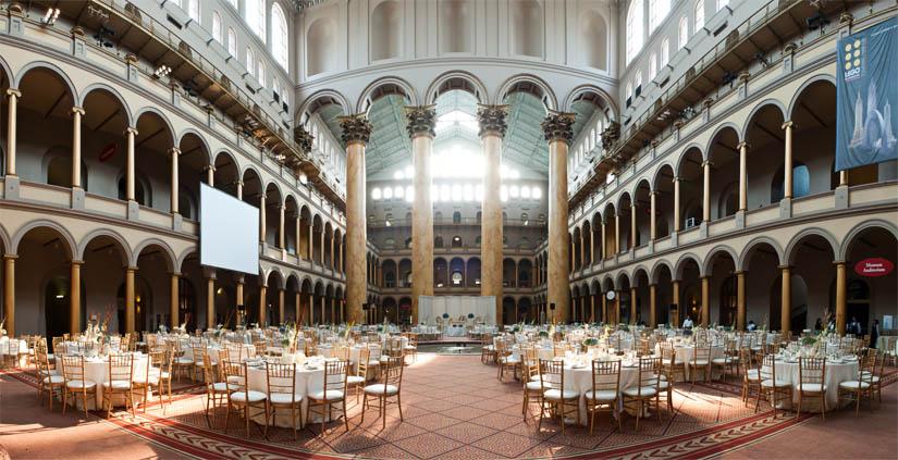 amazing wedding setup at national building museum