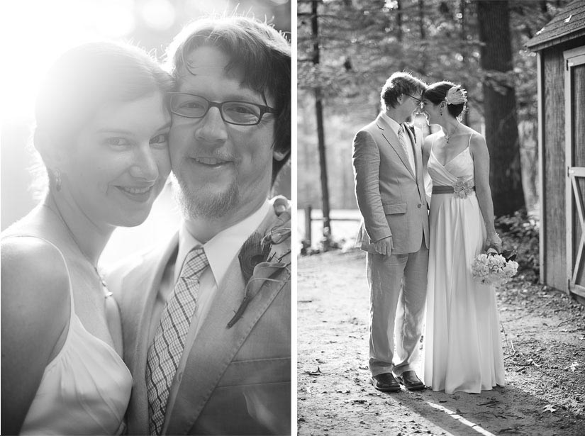 black and white photographs of bride and groom