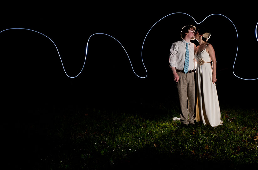 light painting at wedding in northern maryland