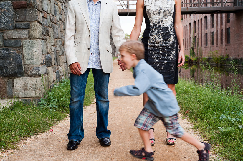 engagement photos with son