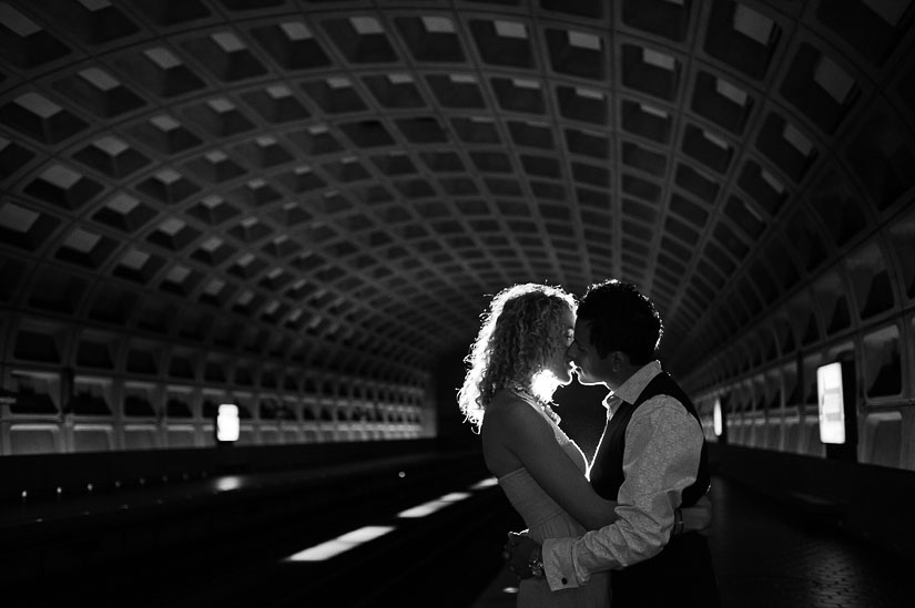 engagement photo in the dc metro