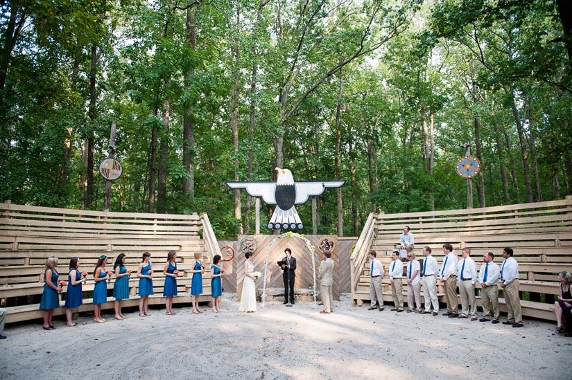 Wedding At The Council Circle Camp Puh Tok
