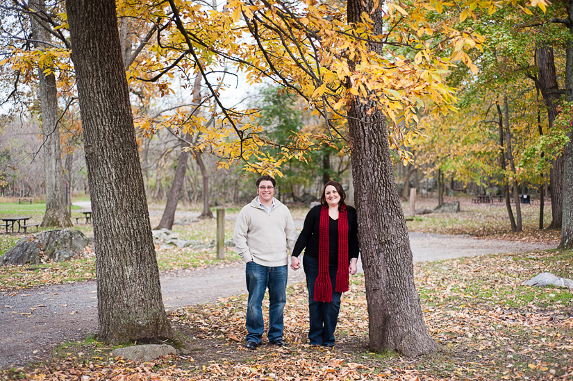 fall color engagement photography