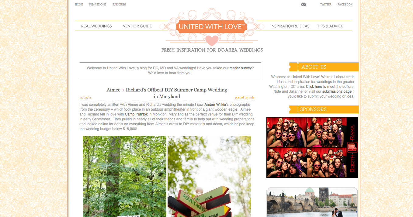 featured on dc wedding blog united with love