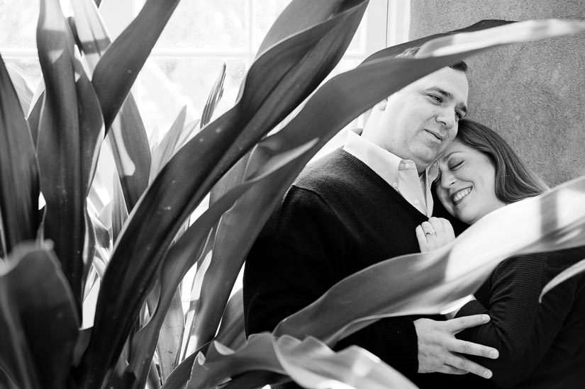 couple in dumbarton oaks greenhouse