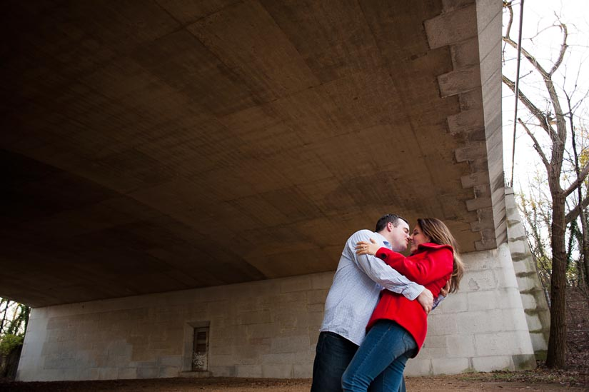 engagement photo under I-66