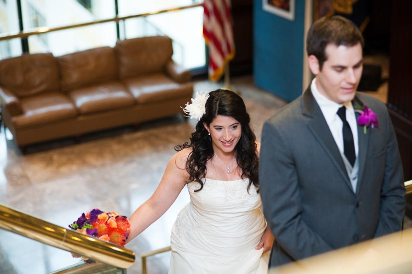 first look between bride and groom in washington, dc