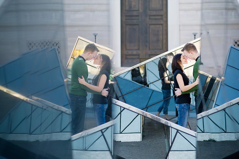 engagement photography at the national gallery of art with SICK REFLECTIONS