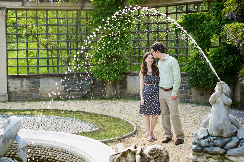 engagement photography at dumbarton oaks