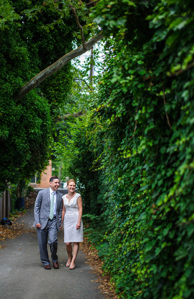 old town alexandria wedding portrait