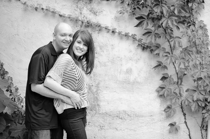 couple laughing at glen echo park engagement session