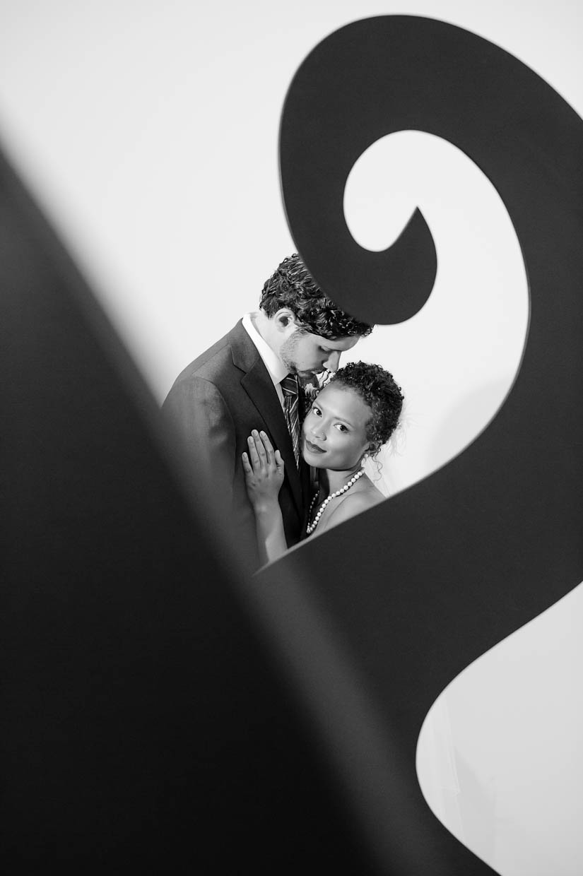 artistic, creative bride and groom portraits
