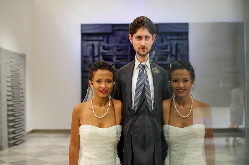 funky modern art wedding portraits