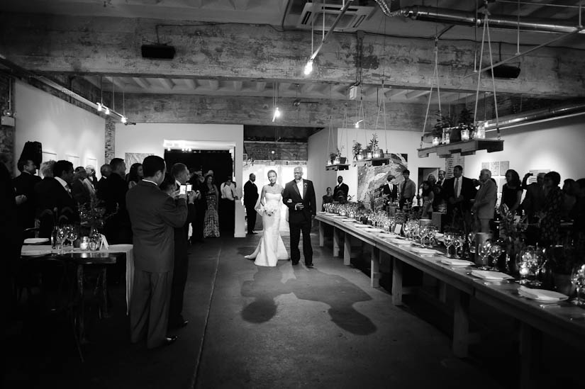wedding processional at longview gallery