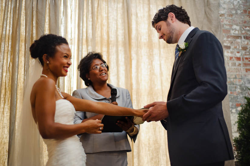 wedding ceremony at longview gallery