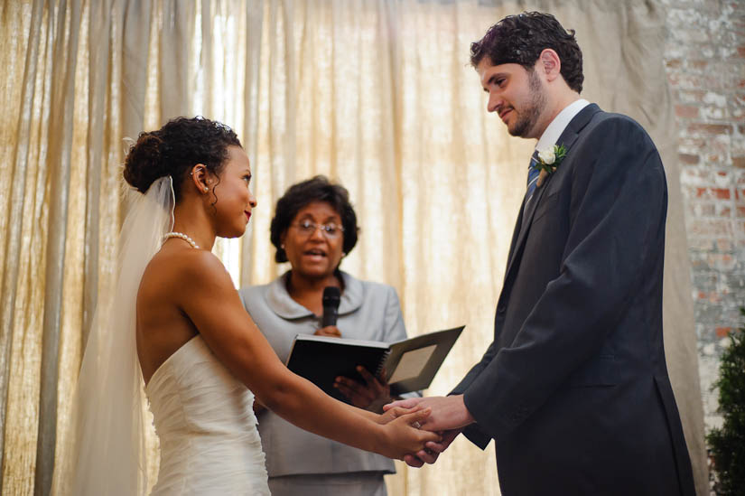 wedding ceremony moment at longview gallery