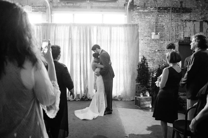 beautiful moment during wedding ceremony at longview gallery