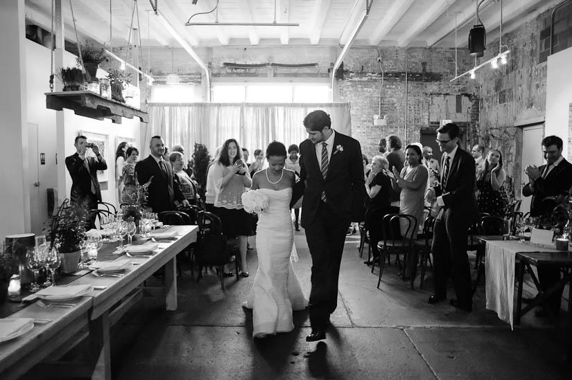 recessional at longview gallery wedding