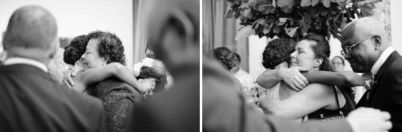 hugging after wedding ceremony in washington, dc