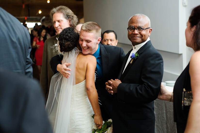 congratulations after wedding ceremony at longview gallery