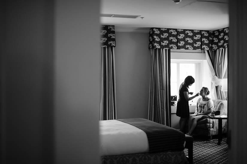 getting ready at the washington dc hotel monaco