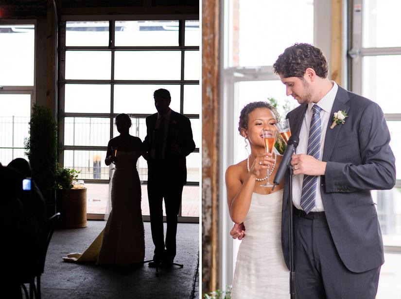 wedding toasts at longview gallery in washington, dc