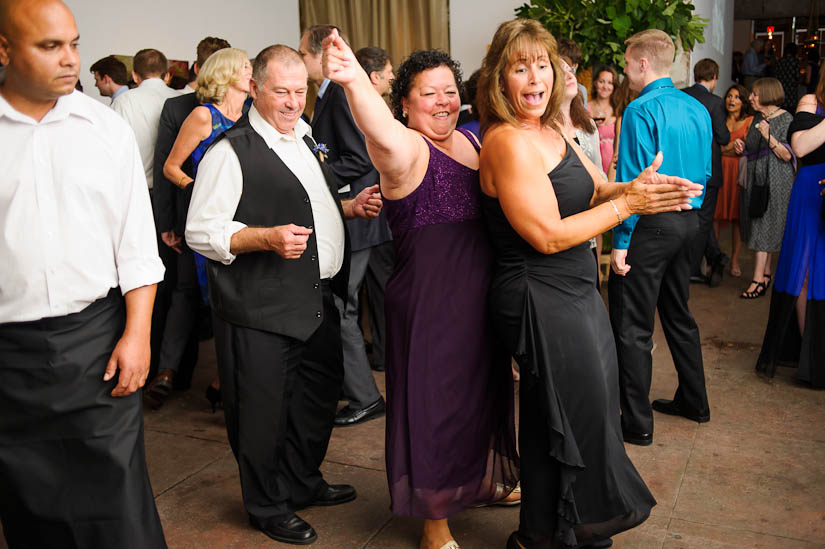 dancing at the longview gallery wedding reception