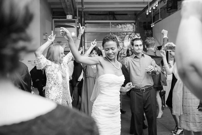 bride dancing at the longview gallery wedding