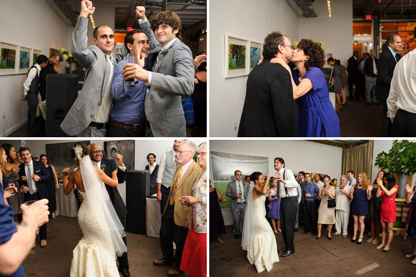 dance party at longview gallery wedding