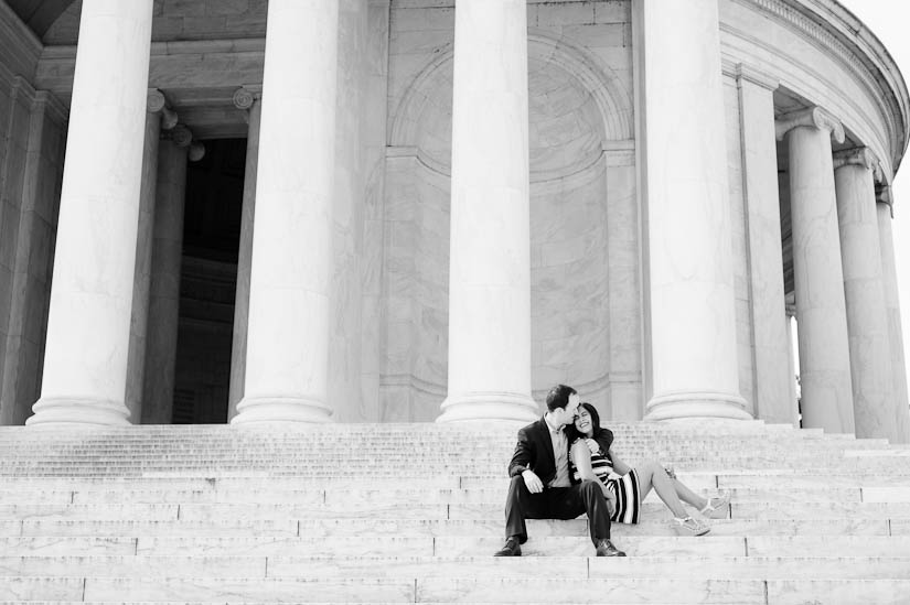 jefferson memorial engagement photography