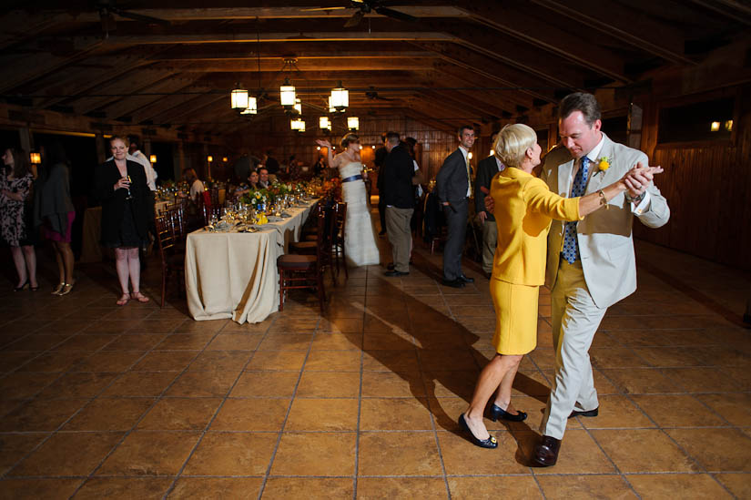 groom and his mother dancing at marriott ranch wedding