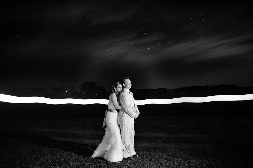 long exposure light painting photography at marriott ranch wedding